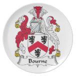 Escudo de la familia de Bourne Platos