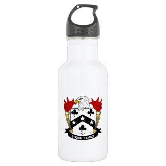 Escudo de la familia de Boush Botella De Agua De Acero Inoxidable