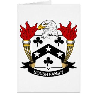 Escudo de la familia de Boush Tarjeta De Felicitación