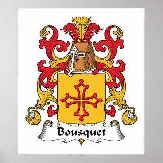 Escudo de la familia de Bousquet Impresiones