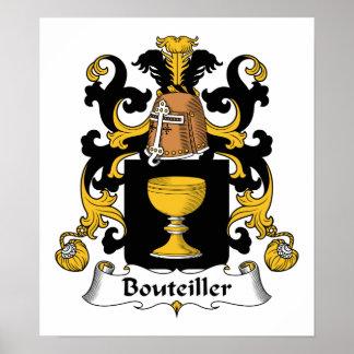 Escudo de la familia de Bouteiller Poster