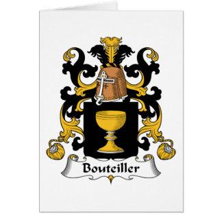 Escudo de la familia de Bouteiller Tarjetón