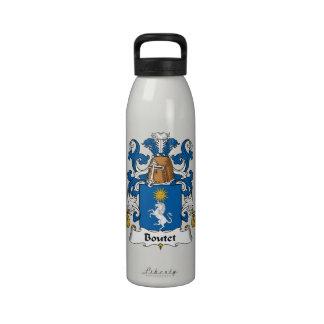 Escudo de la familia de Boutet Botella De Agua Reutilizable