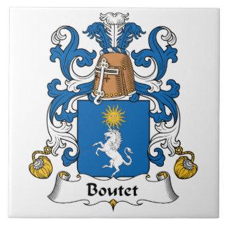 Escudo de la familia de Boutet Azulejos Cerámicos