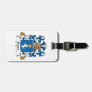 Escudo de la familia de Boutet Etiqueta De Equipaje