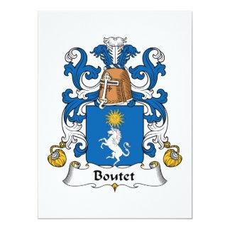 """Escudo de la familia de Boutet Invitación 6.5"""" X 8.75"""""""