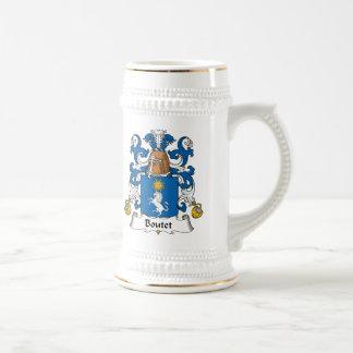 Escudo de la familia de Boutet Jarra De Cerveza