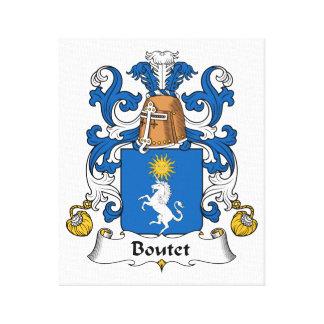 Escudo de la familia de Boutet Lona Envuelta Para Galerías