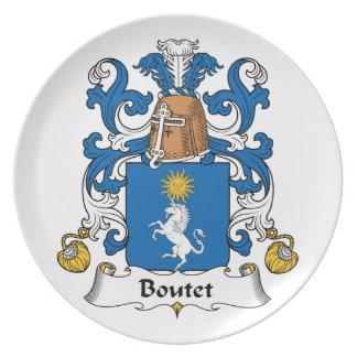 Escudo de la familia de Boutet Plato De Cena