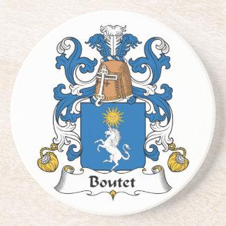 Escudo de la familia de Boutet Posavasos Cerveza