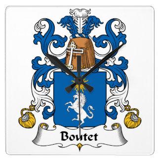 Escudo de la familia de Boutet Reloj De Pared