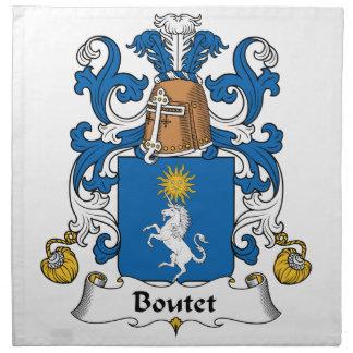 Escudo de la familia de Boutet Servilleta De Papel