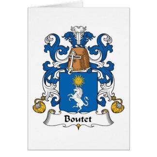 Escudo de la familia de Boutet Tarjeta
