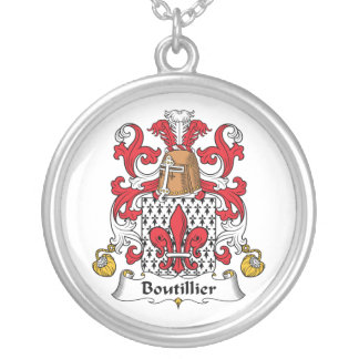 Escudo de la familia de Boutillier Collar Personalizado