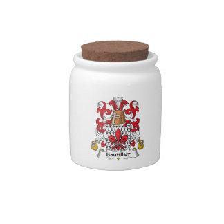 Escudo de la familia de Boutillier Jarra Para Caramelo