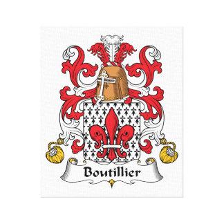 Escudo de la familia de Boutillier Impresiones En Lona Estiradas