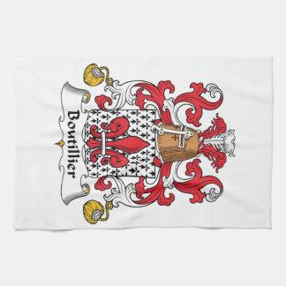Escudo de la familia de Boutillier Toallas De Cocina