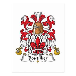 Escudo de la familia de Boutillier Postal