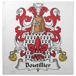 Escudo de la familia de Boutillier Servilleta