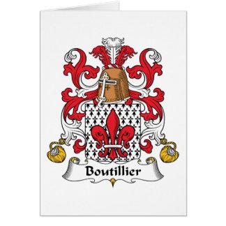 Escudo de la familia de Boutillier Tarjeton