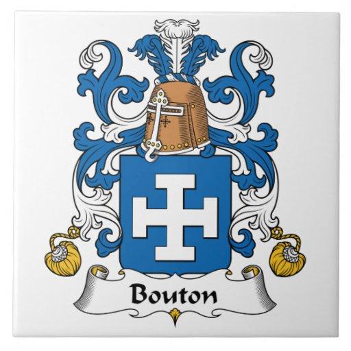 Escudo de la familia de Bouton Azulejo Cerámica