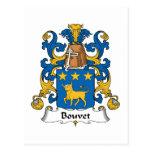 Escudo de la familia de Bouvet Tarjeta Postal