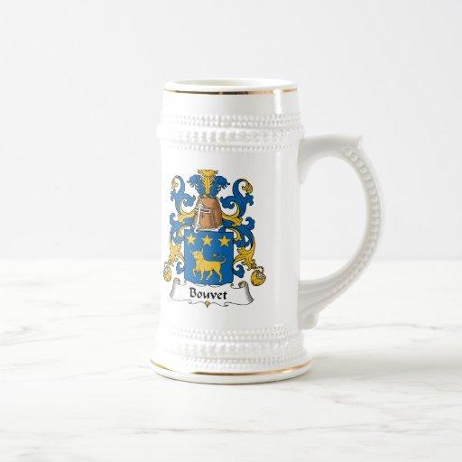 Escudo de la familia de Bouvet Taza De Café