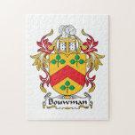 Escudo de la familia de Bouwman Puzzle Con Fotos