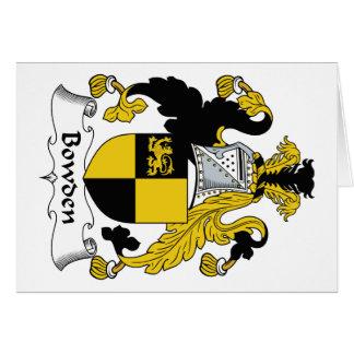 Escudo de la familia de Bowden Felicitacion