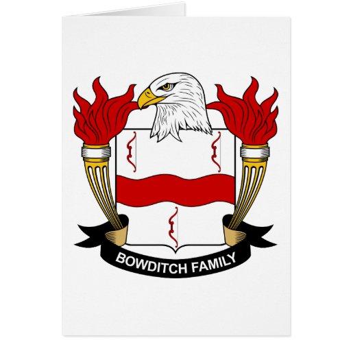 Escudo de la familia de Bowditch Tarjeta De Felicitación