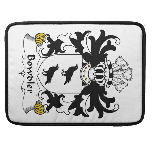 Escudo de la familia de Bowdler Fundas Para Macbooks