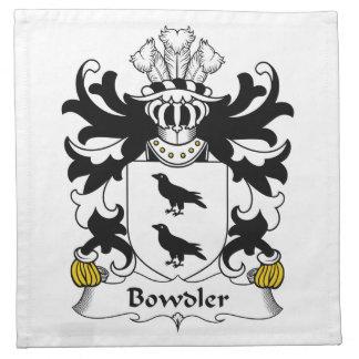 Escudo de la familia de Bowdler Servilleta De Papel