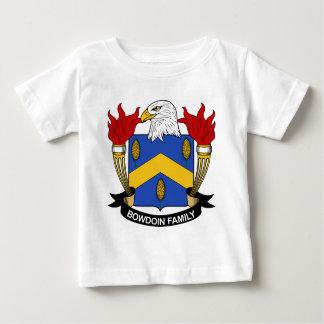 Escudo de la familia de Bowdoin Playera De Bebé
