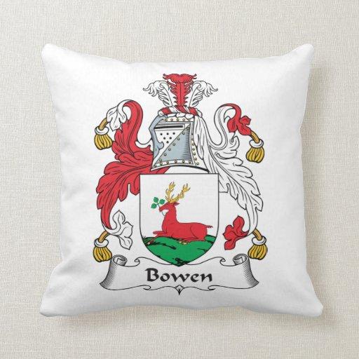 Escudo de la familia de Bowen Almohadas
