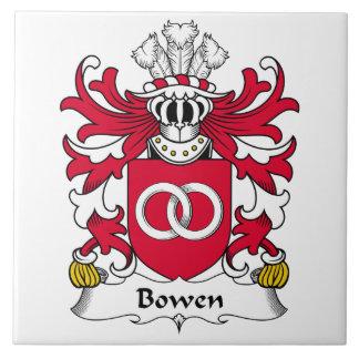 Escudo de la familia de Bowen Azulejo Cuadrado Grande