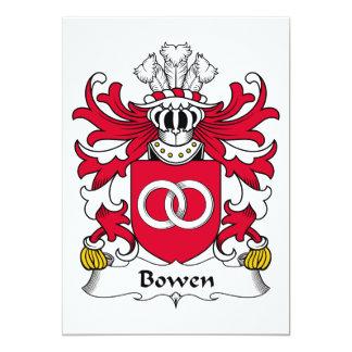 """Escudo de la familia de Bowen Invitación 5"""" X 7"""""""