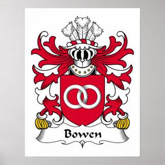Escudo de la familia de Bowen Póster