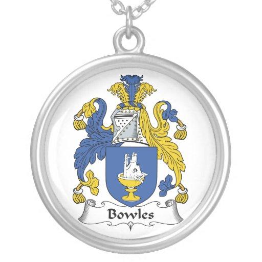 Escudo de la familia de Bowles Collar Plateado