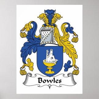 Escudo de la familia de Bowles Impresiones