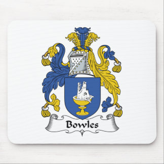 Escudo de la familia de Bowles Tapete De Raton