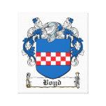 Escudo de la familia de Boyd Impresión De Lienzo
