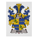 Escudo de la familia de Boye Impresiones