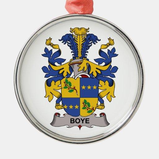 Escudo de la familia de Boye Ornamento De Navidad