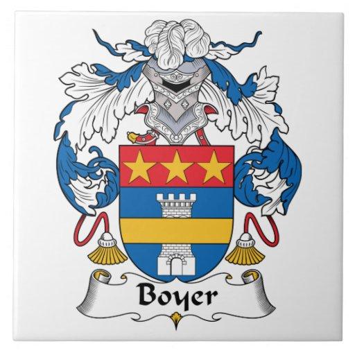 Escudo de la familia de Boyer Azulejo Cuadrado Grande