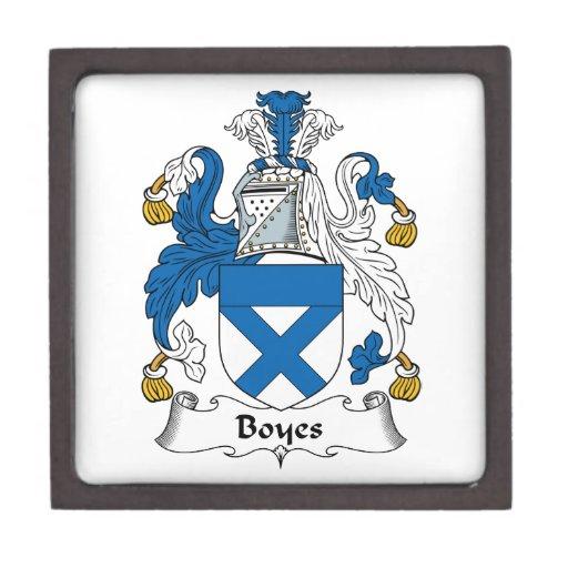 Escudo de la familia de Boyes Caja De Recuerdo De Calidad