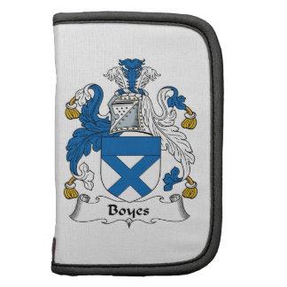 Escudo de la familia de Boyes Planificador