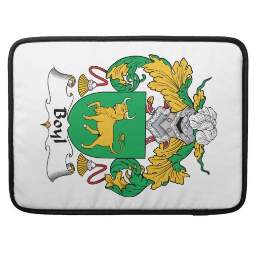 Escudo de la familia de Boyl Funda Para Macbooks