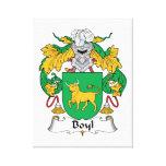 Escudo de la familia de Boyl Impresiones De Lienzo