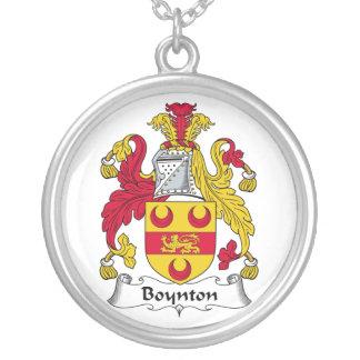 Escudo de la familia de Boynton Colgante Redondo