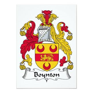 """Escudo de la familia de Boynton Invitación 5"""" X 7"""""""